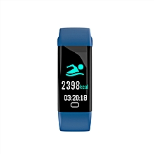 """F07 - 0.96"""" Smart Watch 100mAh Android IOS Bluetooth Heart Rate Monitor - Blue"""