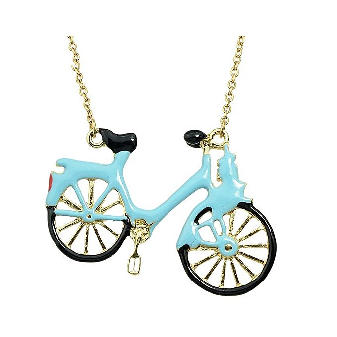 Bezel lovely sea blue enamel bicycle pendant necklace buy online lovely sea blue enamel bicycle pendant necklace aloadofball Gallery
