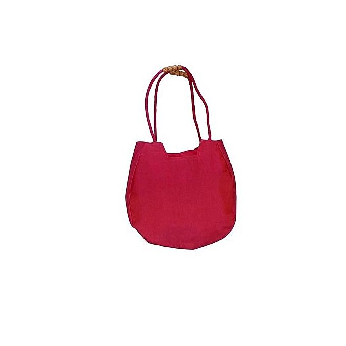 Bhamini Garvi Gujarat Round Handbag - Pink   Best Price
