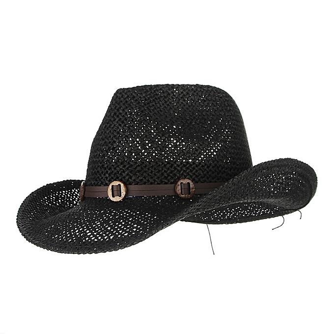 Fashion Mens Rush Straw Lightweight Casual Wide Brim Gambler Hat ... 6e22dd9c8cf