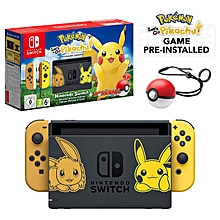Switch Console Pokemon Lets Go Pikachu + Pokeball Plus Controller