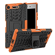 "For Xperia XZ1 Case, Hard PC+Soft TPU Shockproof Tough Dual Layer Cover Shell For 5.2"" Sony G8341/G8342, Orange"