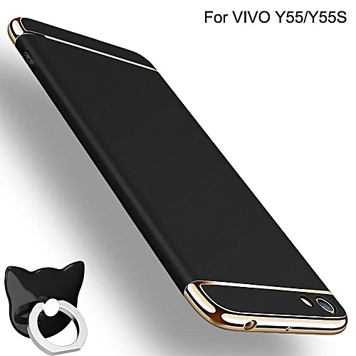 huge selection of c9fa1 1a0f0 For VIVO Y55S/Y55 Slim Luxury 3in1 Shockproof Hard Case Cover With Ring  Holder