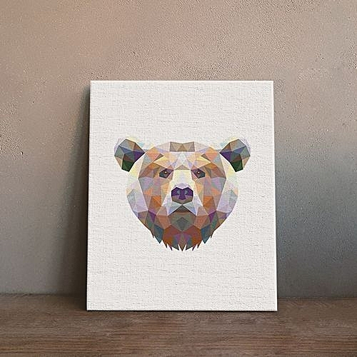 Generic Bear Painting Printing Canvas Wall Decor For Home Decoration