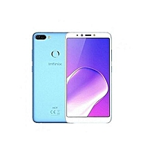 "HOT 6 - 1GB RAM - 16GB - 6"" - 13+8MP- FingerPrint - 4000mAh - Face ID - Saphire blue + FREE Earphone Cable Protector"