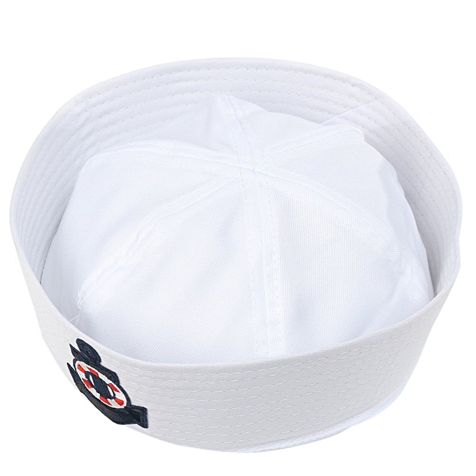 ... Adult Kid White Yacht Boat Captain Cap Navy Costume Party Cosplay Sailor  Hat HOT 22cm x ... f57845ae8014