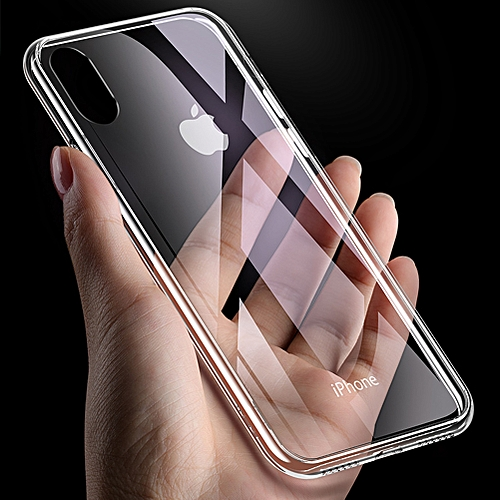 buy popular a32bb ae652 IPhone XS Max Case 9H Tempered Glass Back Cover + Soft TPU