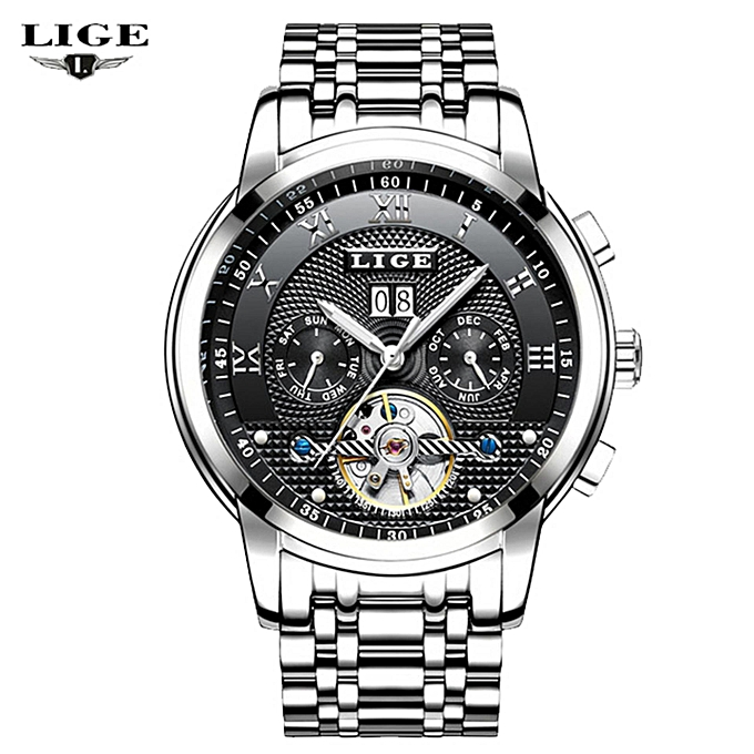 3a856a254ae LIGE New 2018 LIGE Brand Watch Men Top Luxury Automatic Mechanical Watch Men  Stainless Steel Clock Business Watches Relogio Masculino 9841