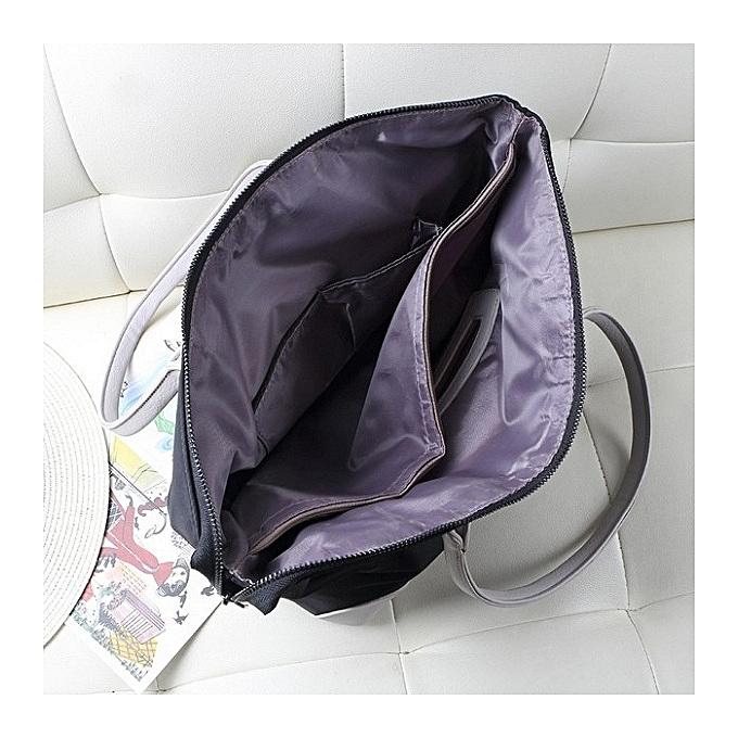 5e45a613d45 ... Bag Women Nylon Color Block Multifunction Casual Handbag Tote Shoulder  ...