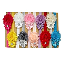 5pcs Lovely Hair Band  Baby Girl's Headbands Chiffon Hair Flower Item Type Head