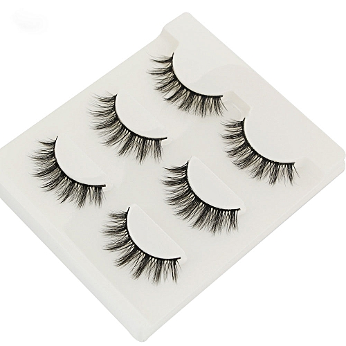 2a5401158f2 Generic 3Pair/Set 3D Mink False Eyelashes Handmade Black Thick Natural Long  Fake Eye Lashes Extension Beauty Stage Smoked Make Up - Black