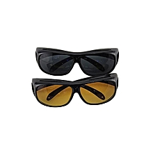 HD Night and Day Driving Glasses Anti Glare Vision Driver Safety Sunglasses -Brown And Black