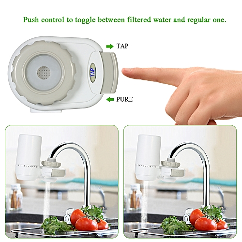 Home Appliances Hard-Working High-end Water Purifier Faucet Mount Filter Activated Carbon Filter Water Home Desktop Kitchen Tap Water Filter