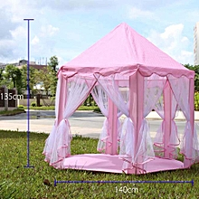 Castle Children's Tent House of Games For Kids Funny Portable Tent Baby Playing- Pink