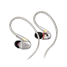Earphone High-Definition Micro Drivers Wired Dynamic - Silver