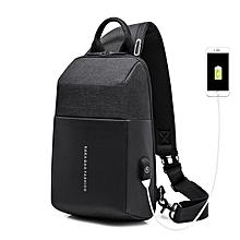 KAKA Fashion Sling Bag Waterproof Casual Chest Bag Backpack