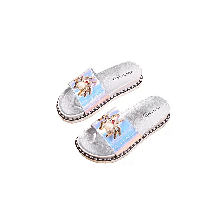 89fae5457b3cb Summer New Flat Bottom Wild Wear Women's Slippers Casual Beach Sandals  Ladies Outdoor Home Comfortable Slippers