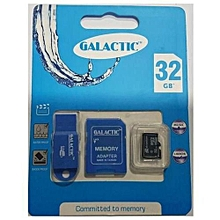 Memory Card + Adapter (Superior Quality) - 32GB  - Black