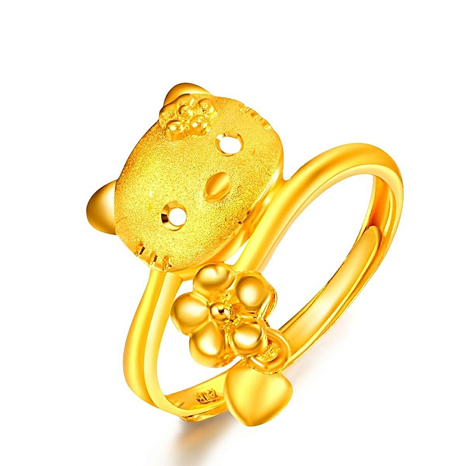 2199bbf63 Hello Kitty Hello Kitty openings ring plate a 3 D hard gold decoration Han  Ban the