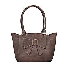 Coffee PU Leather  Handbag