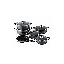 New Non Stick Cooking Pots - 11 Pieces - Black