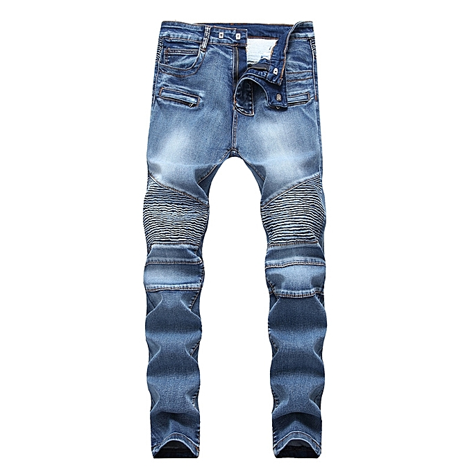 a51c5de9504ed AFankara Pleated Designer Jeans