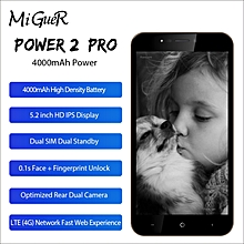 "POWER 2 PRO 5.2"" HD Mobile Phone Android 8.1 2GB + 16GB 4000mAH Fingerprint 4G Dual Card Smartphone"