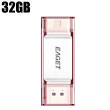 EAGET I60 32GB USB 3.0 OTG Flash Drive with Connector ROSE GOLD 32GB