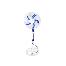 "Fan , Stand, 16"" - White & Blue"