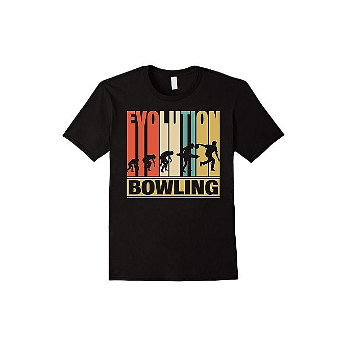 655cb7e4f Vintage Retro Evolution Of Bowling. Funny Shirt Gifts Men Graphic T-Shirt