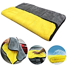 AfricanmallDN store  Auto Care Super Thick Plush Car Cleaning Car Microfibre Wax Polishing  Towels-Yellow