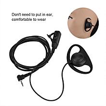 PTT Talkie Headset 2.5mm Single PIN Ear Hook For Voice-Talkie Radio