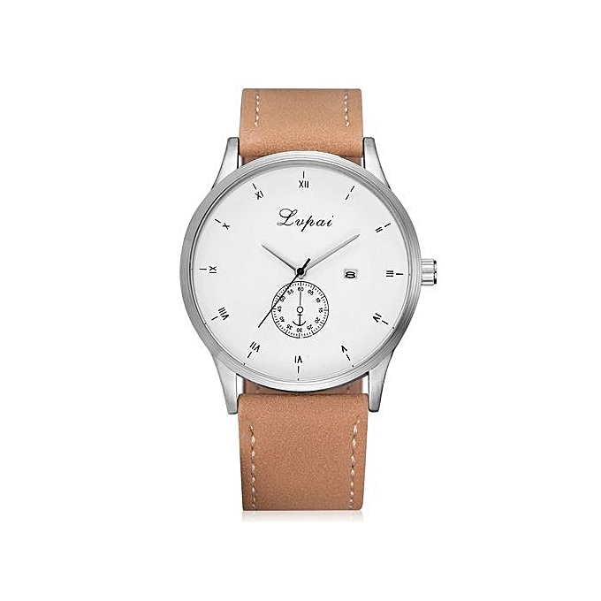 83b6840997f LVPAI Luxury Women s LVPAI Wrist Watches Female Classic Temperament Leather  Belt With Simulated Quartz Round Watch A-Beige