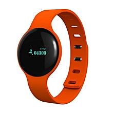 Smart Wristband Pedometer Bluetooth Bracelet Sports Fitness Tracker Smartband Waterproof For Iphone Android Phone Orange