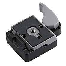 TA Camera 323 Quick Release Clamp Adapter For Manfrotto 200PL-14 Compat Plate-main Black