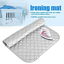 1Pc Portable Foldable Cotton Ironing Mat Silver Laundry Pad Home Use (60 * 55cm)