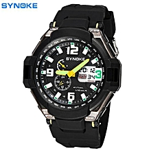 SYNOKE Men Waterproof Double Digital Quartz LED Sports Watch BDZ