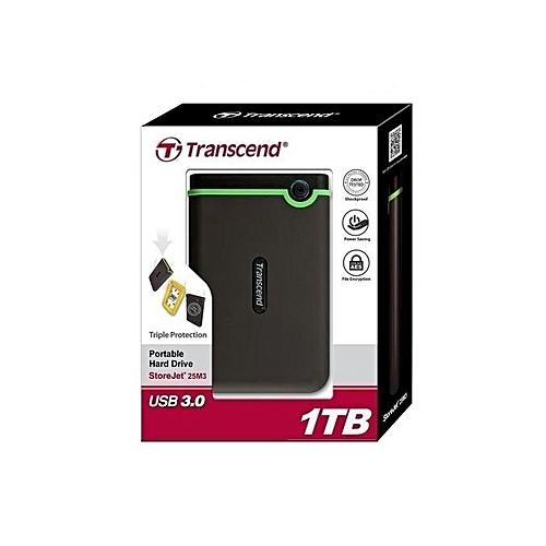57bd8f4e016 TRANSCEND 1TB - External Hard Drive - USB 3.1 - Black   Best Price ...