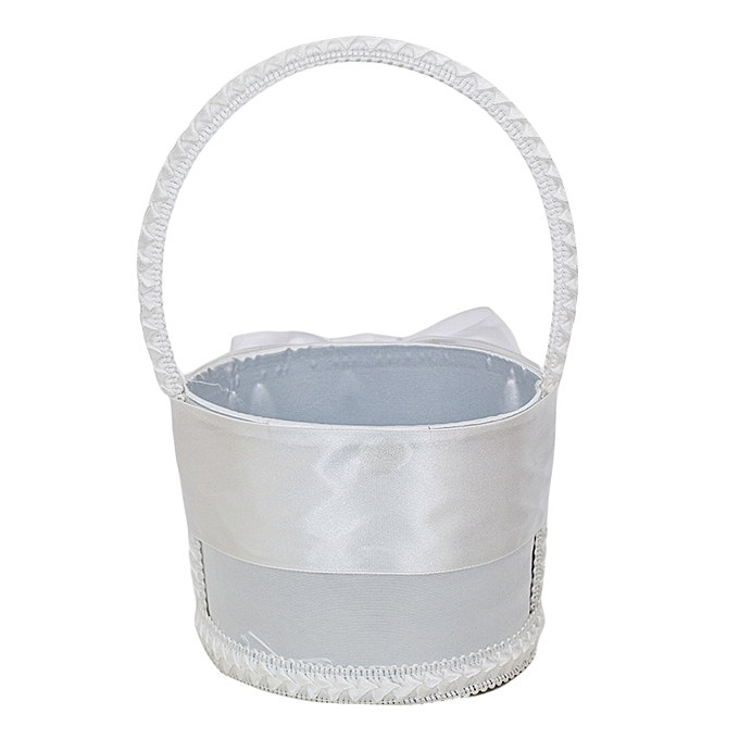 Buy Generic White With Bow Flower Girls Basket Best Price Jumia