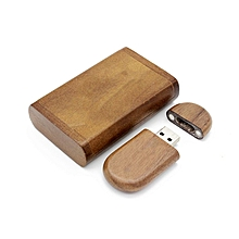 Portable Walnut Wood USB 2.0 Flash Drives Memory Stick Pen U Disk Pendrive wood color