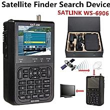 SATlink WS-6906 3.5'' DVB-S FTA Data Digital Satellite Dish Signal Finder Meter Black