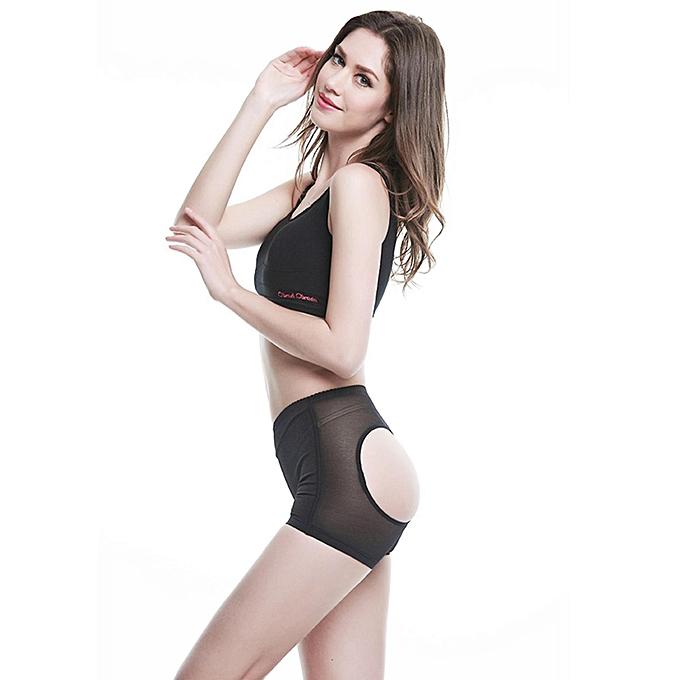0b7d91e78 ... Women Butt Lifter Shaper Bum Lift Pants Buttocks Enhancer Boyshorts  Booty Briefs-Black - Black ...