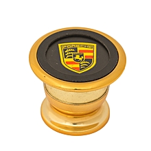 Magnetic Cell Phone Holder with a Porsche Logo - Gold