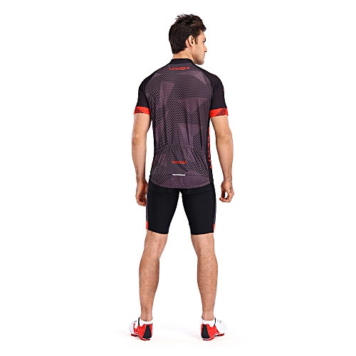 Generic Lixada Men s Cycling Clothes Set Quick Dry Short Sleeve Bicycle  Jersey Shirt Tops 3D Cushion Padded Riding Shorts Tights Pants d20e0c73c