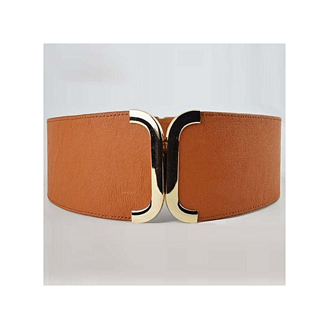 Female Brief Wide Belt Decoration Elastic Cummerbund Strap Dress Accessories  BW 5b05e2582