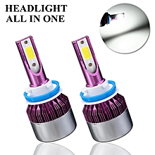 A Kit with Package H8/H9/H11 Purple Shell COB DC9-32V 240W(60)a pair IP65 6500k headlight