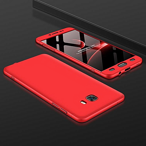 new style 08190 2e644 For Samsung Galaxy C9Pro Phone Cases 3 In 1 360 Degree Full Body Protection  Slim Cover Case For Samsung Galaxy C9 Pro (Red)