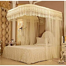 Mosquito Net  + 2 Stands with RAILS - Cream