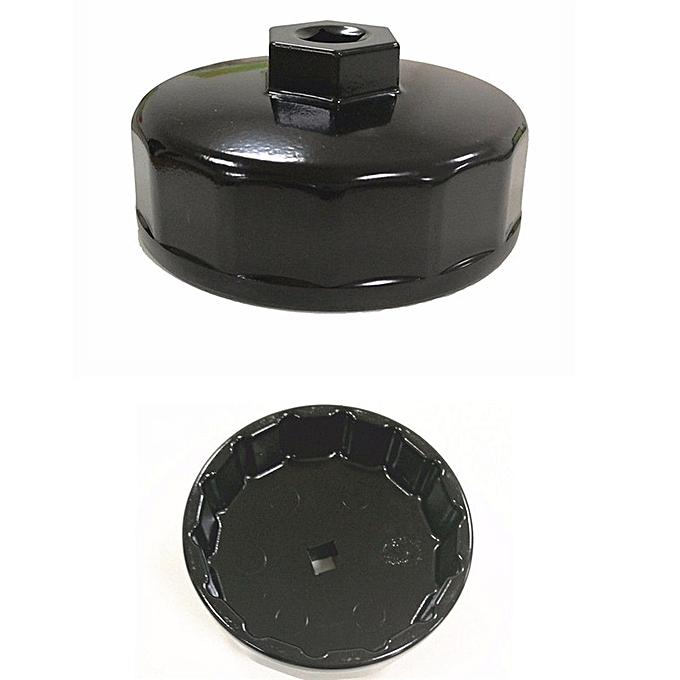 Black 74mm 14 Flute Oil Filter Wrench Remover Tool Kit For Mercedes Benz VW  Audi