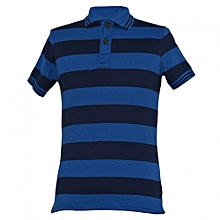 Navy/Blue Striped Mens Polo Shirts